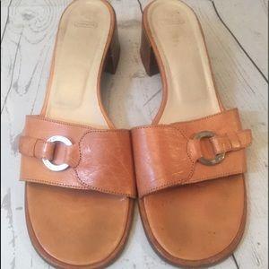 Coach heeled sandals size 7B
